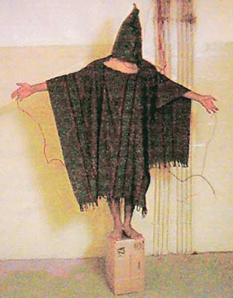 A man who claimed in the New York Times to have been this detainee at the U.S.-run Abu Ghraib jail near Baghdad, Iraq, is being challenged as to whether he really was the prisoner.