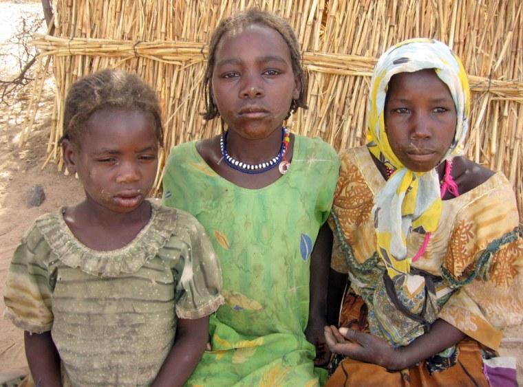 Orphans Samiyah, Safiyah and Gamara live in Eastern Chad, near Darfur, Sudan.