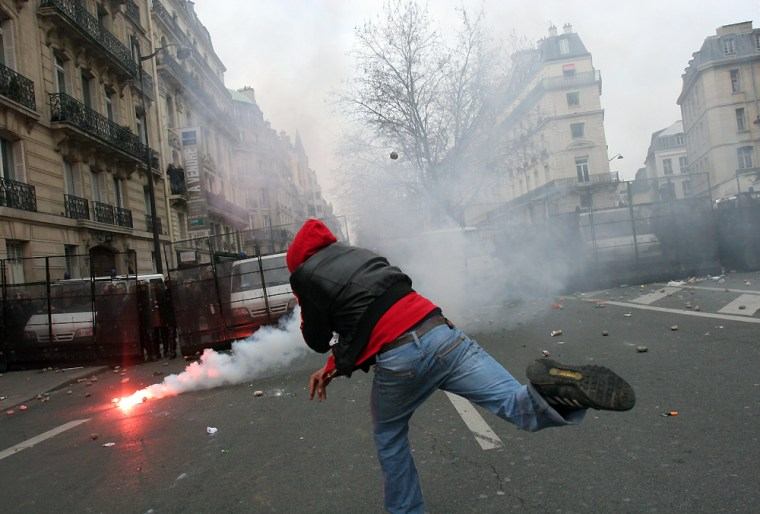France Student Clashes