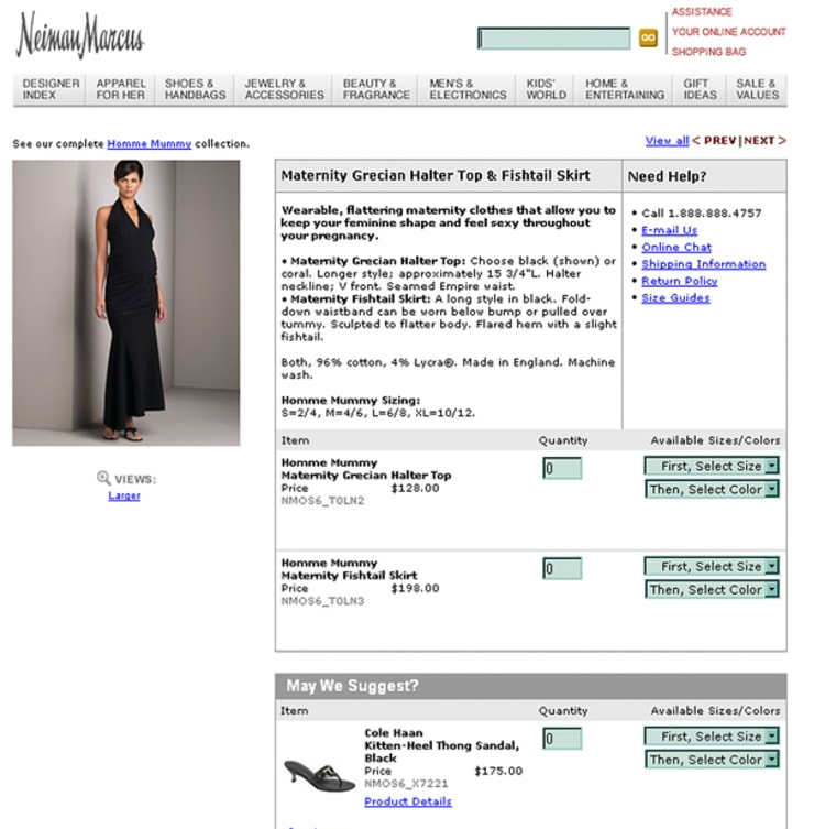 This is a frame shot of the Neiman Marcus Web site. According to Forrester Research, luxury online sales, including jewelry and designer fashions, rose 28 percent to $3.2 billion last year from the previous year.