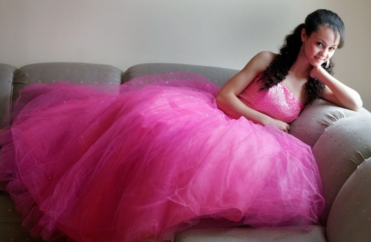 Marisa West of Washington, D.C., is collecting prom dresses to send to students in New Orleans.