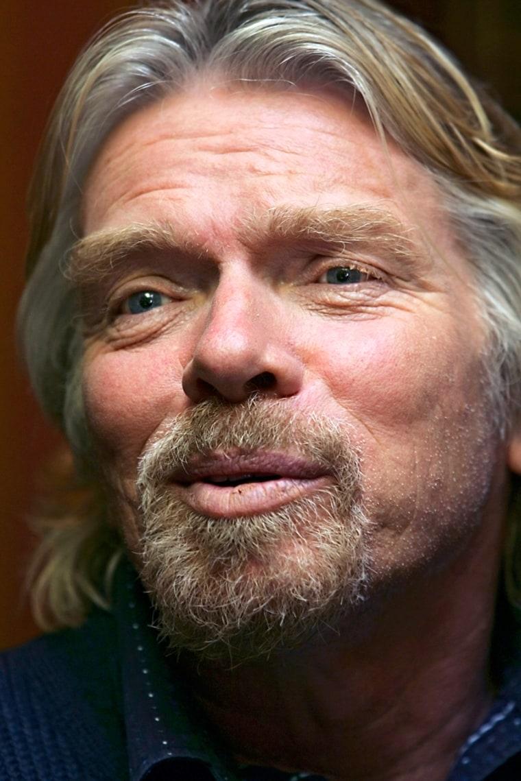 British billionaire Richard Branson, the