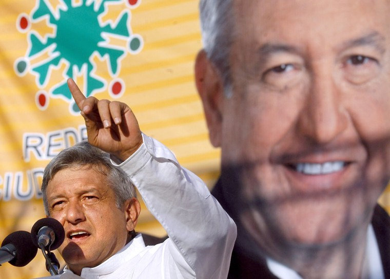 Mexican presidential candidate Andres Ma