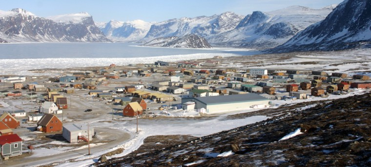 Pangnirtung, a village on Canada's Baffin Island, had rain and temperatures in the 40s last month, when minus-20 degrees is normal.