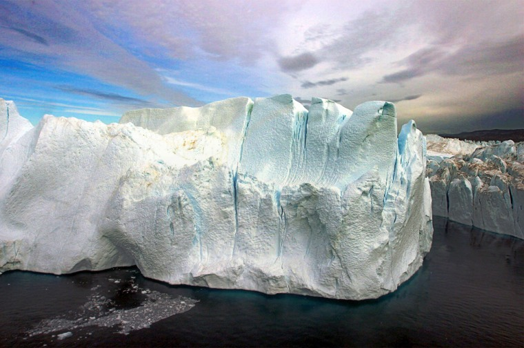 A section of the ice sheet covering much of Greenland is seen in this Aug. 17, 2005 file photo.