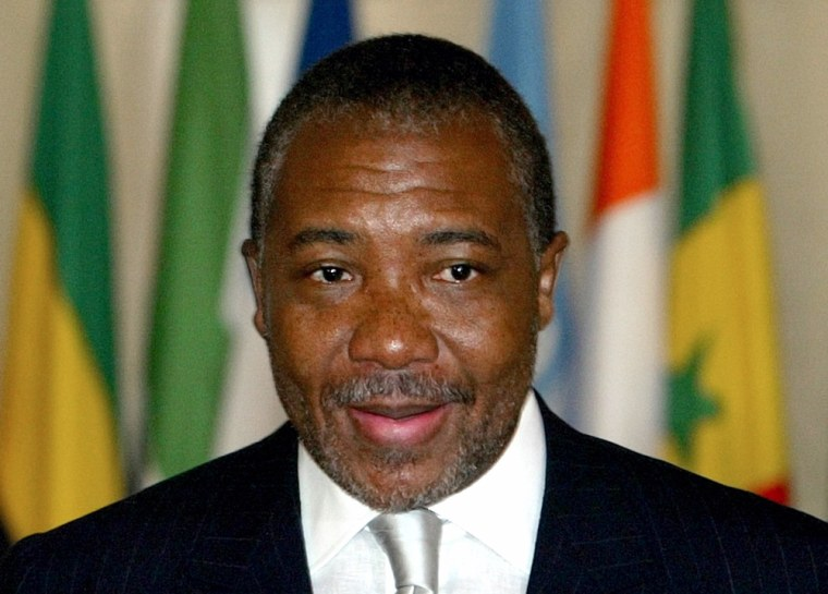 File photo of former Liberian president Taylor during Ivory Coast conference in Paris
