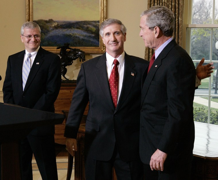 George W. Bush, Andy Card, Josh Bolten