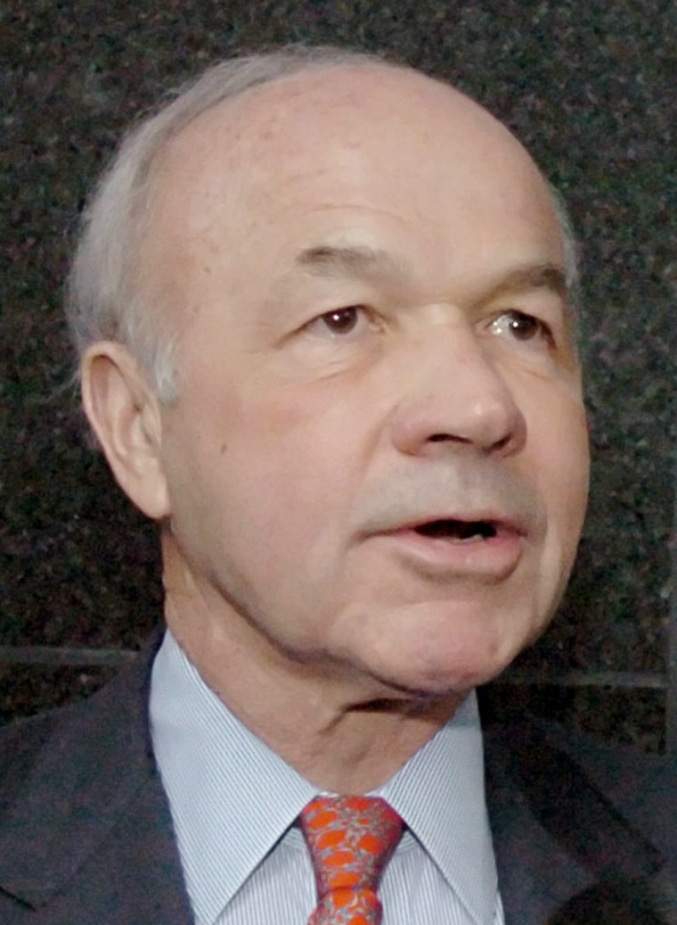 Former Enron founder and CEO Lay greets the media outside the federal court in Houston