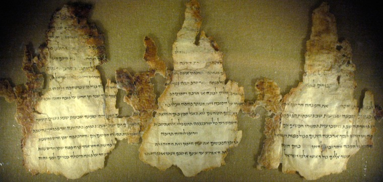 Three fragments from one of the Dead Sea Scrolls discuss the ritual and rules at the second Temple, a place key to the experiences of Jesus. Theyare displayed at the Maltz Museum of Jewish Heritage in Beachwood, Ohio, as part of a newexhibitofearly Christian artifacts and related objects.