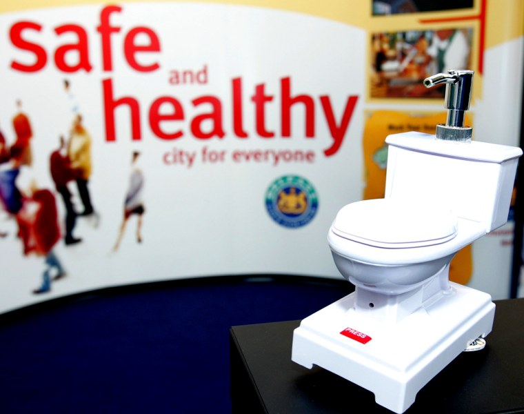 A WC is displayed at the World Toilet Su