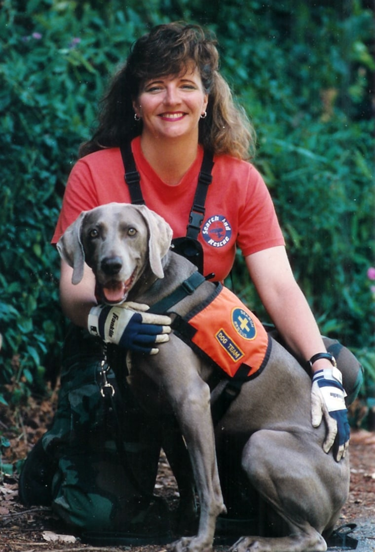 Pet detective Kat Albrecht is the founder of Missing Pet Partnership, which tracks missing animals. Her search dog, Rachel, has a nose for finding lost cats.