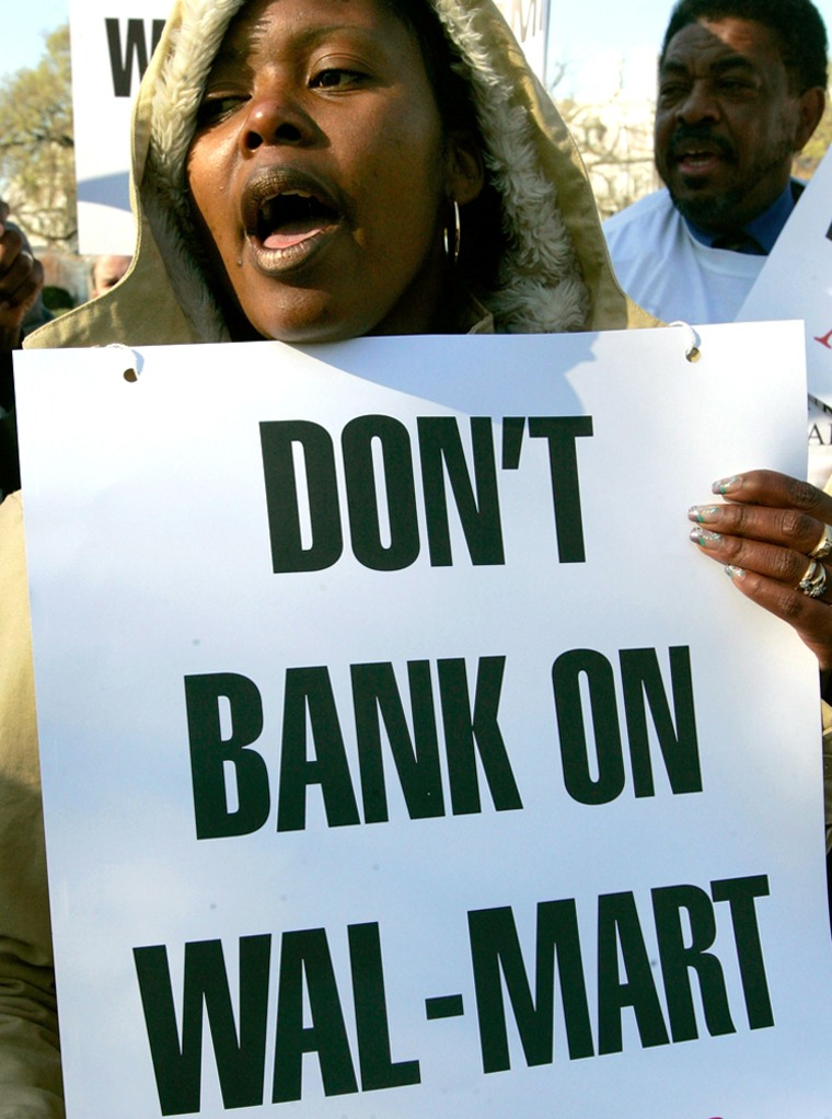National Community Reinvestment Coalition Protests Wal-Mart