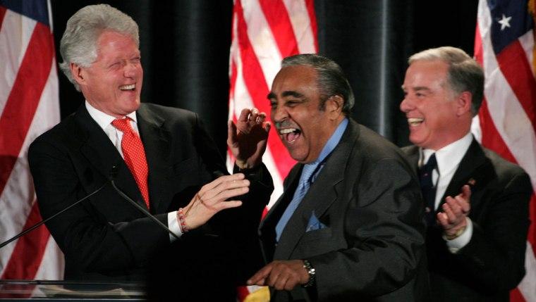 Bill Clinton, Charles Rangel, Howard Dean