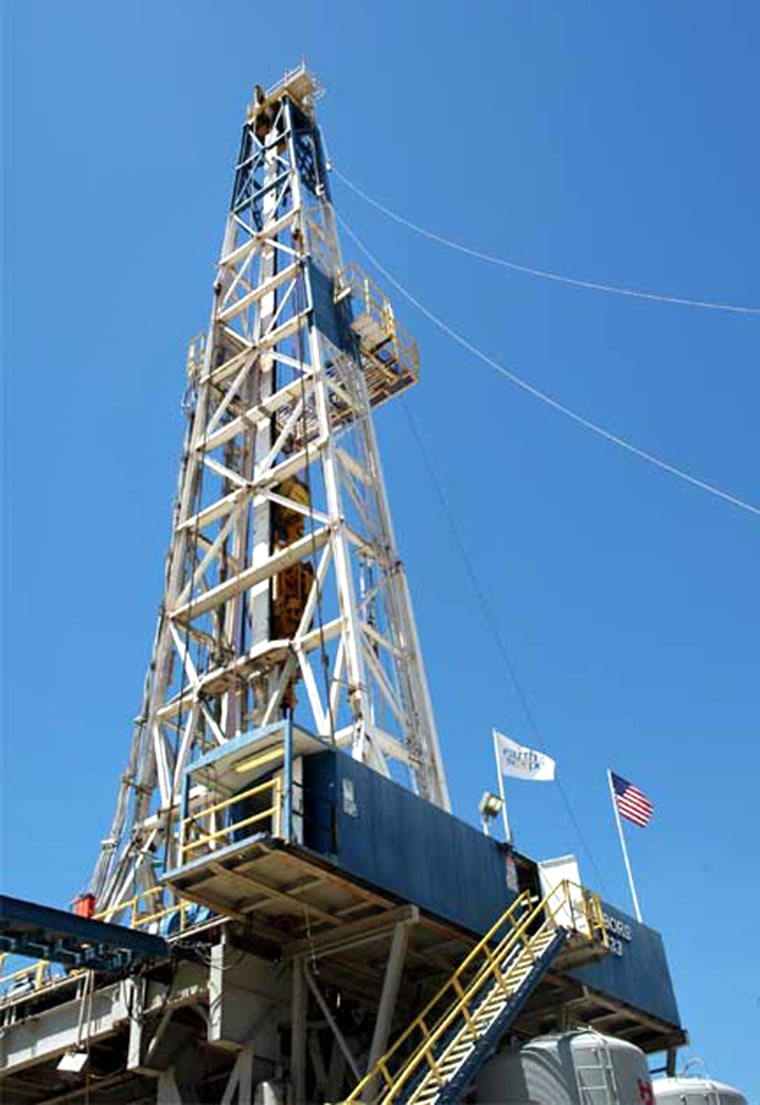 This drilling rig in Parkfield, Calif., serves as the portal to the underground monitoring station known as the San Andreas Fault Observatory at Depth.