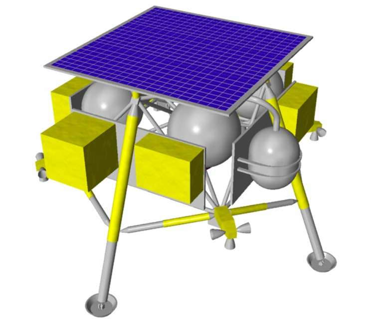 Oneconcept for Japan's unmanned moon lander includes a power-producing solar panel on top.