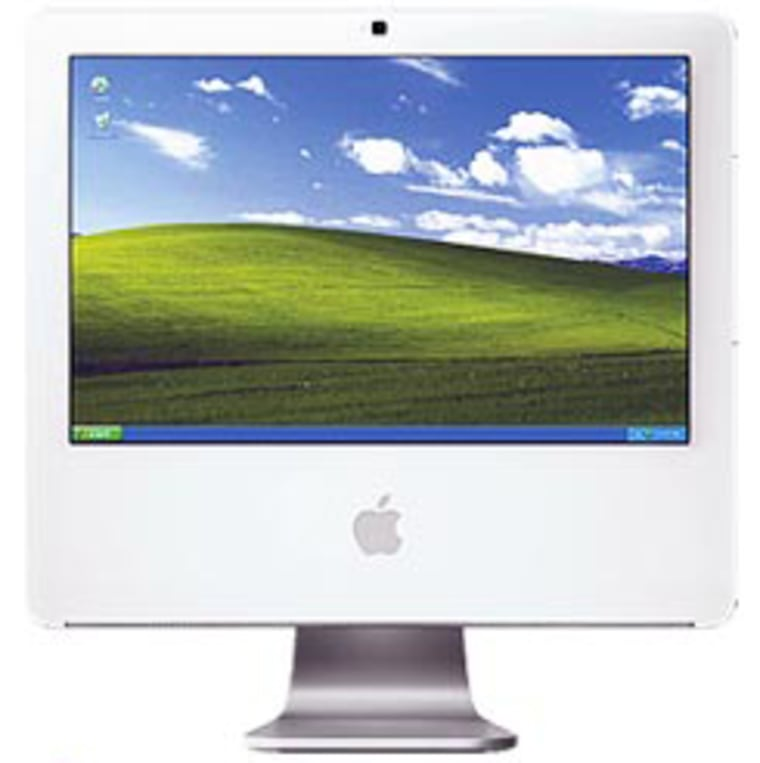 Exactly what it looks like afterusing Apple's new Boot Campsoftware to install Windows XP on your iMac.