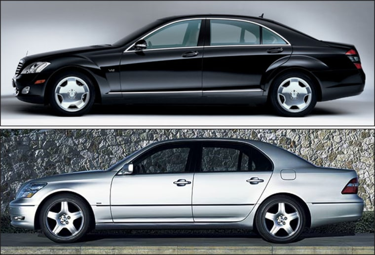 Spot the difference? Theseimages of a Lexus LS, pictured below in its 2006 version,andthe Mercedes S-Class(above) show thesimilarities between these two luxury sedans.