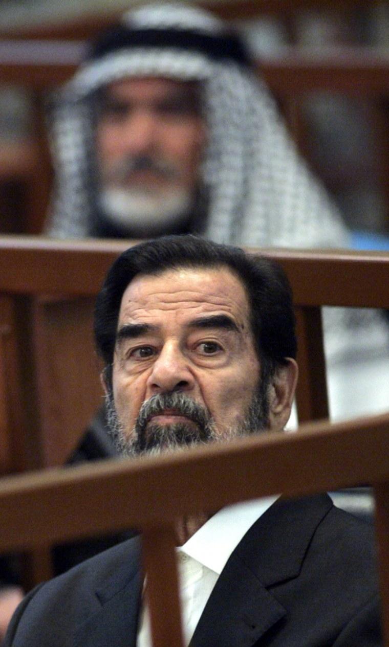 Former Iraqi President Saddam Hussein li