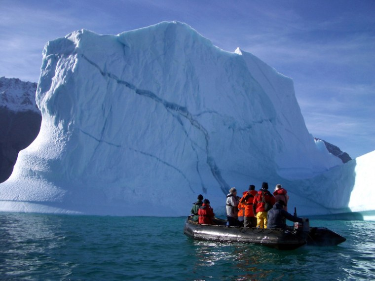 Getting up close and personal with a glacier is an extremely popular ecotourist activity.