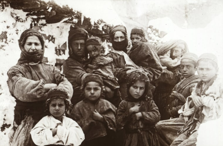 """Armenian refugees in Ottoman Turkey are shown in a picture featured in the recent documentary """"The Armenian Genocide."""""""