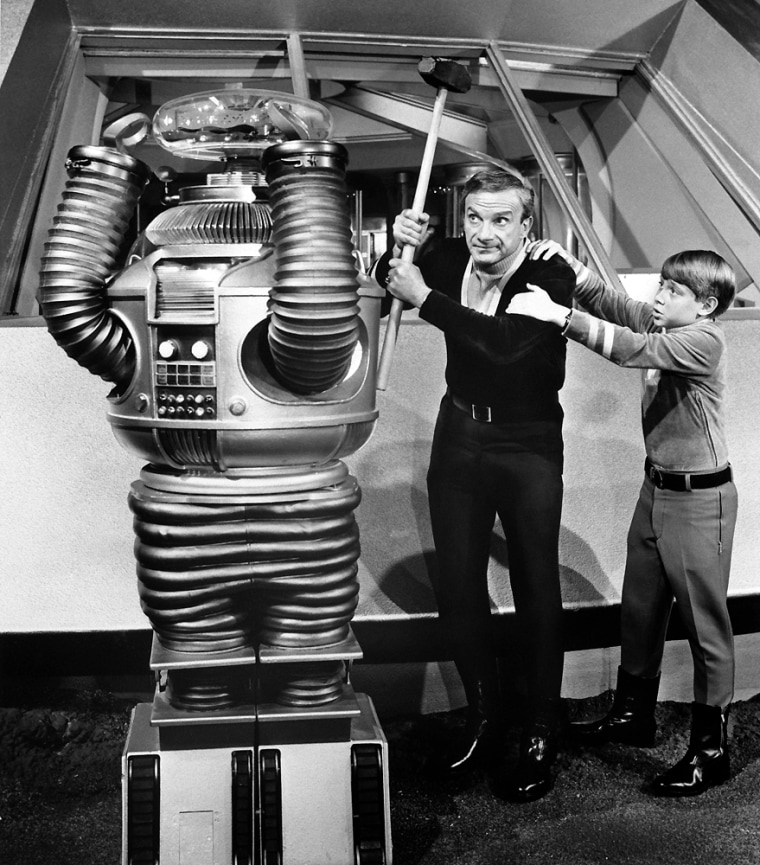 Jonathan Harris and Bill Mumy in <Lost in Space>