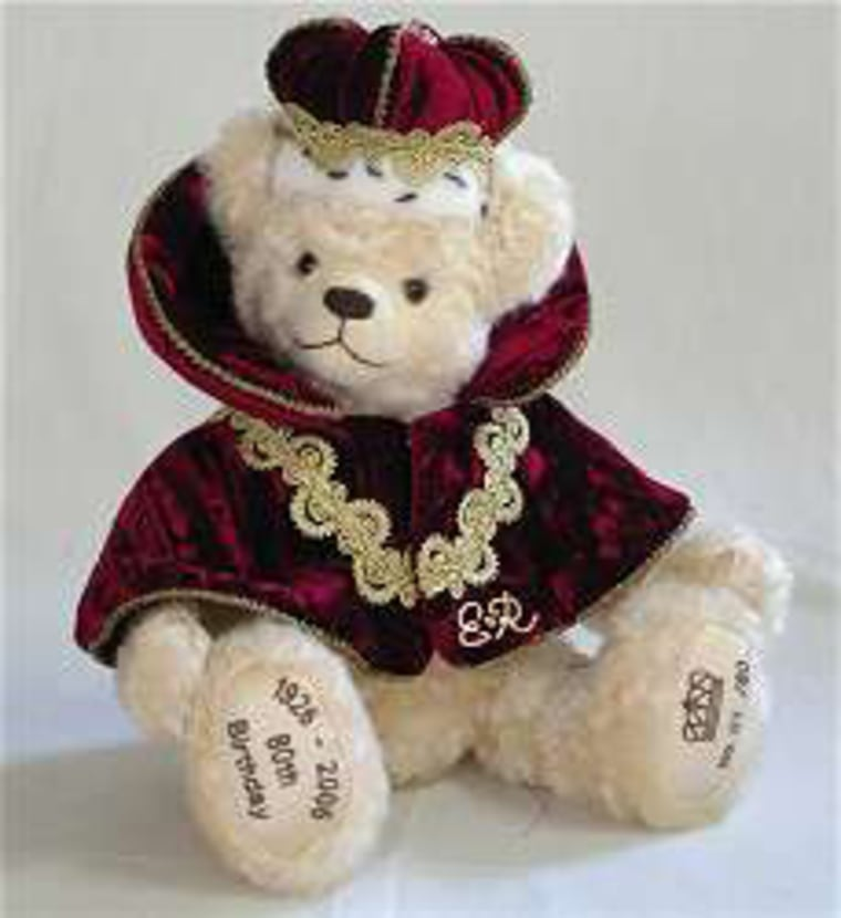 The 'Her Majesty' bear, one of only 80 and yours for about $320.