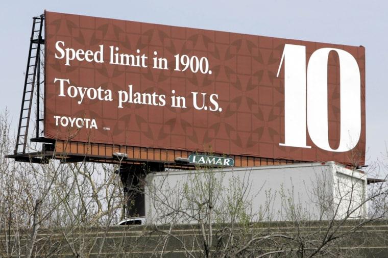 Toyota billboard