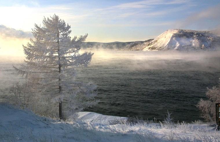 (FILES) A view of the Baikal lake taken