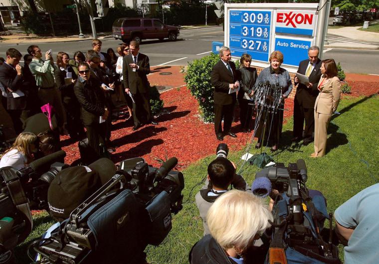 Congressional Democrats Visit Capitol Hill Gas Station