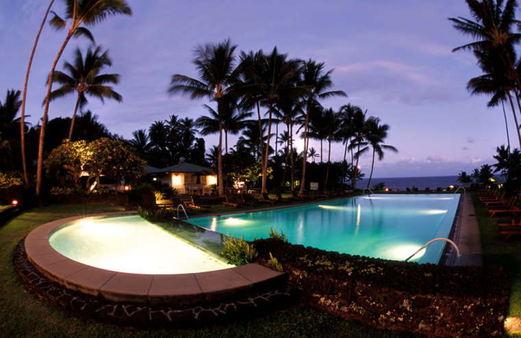 The Wellness pool and whirlpool located near the Sea Ranch Cottages at the Hotel Hana-Maui in Hana, Hawaii.