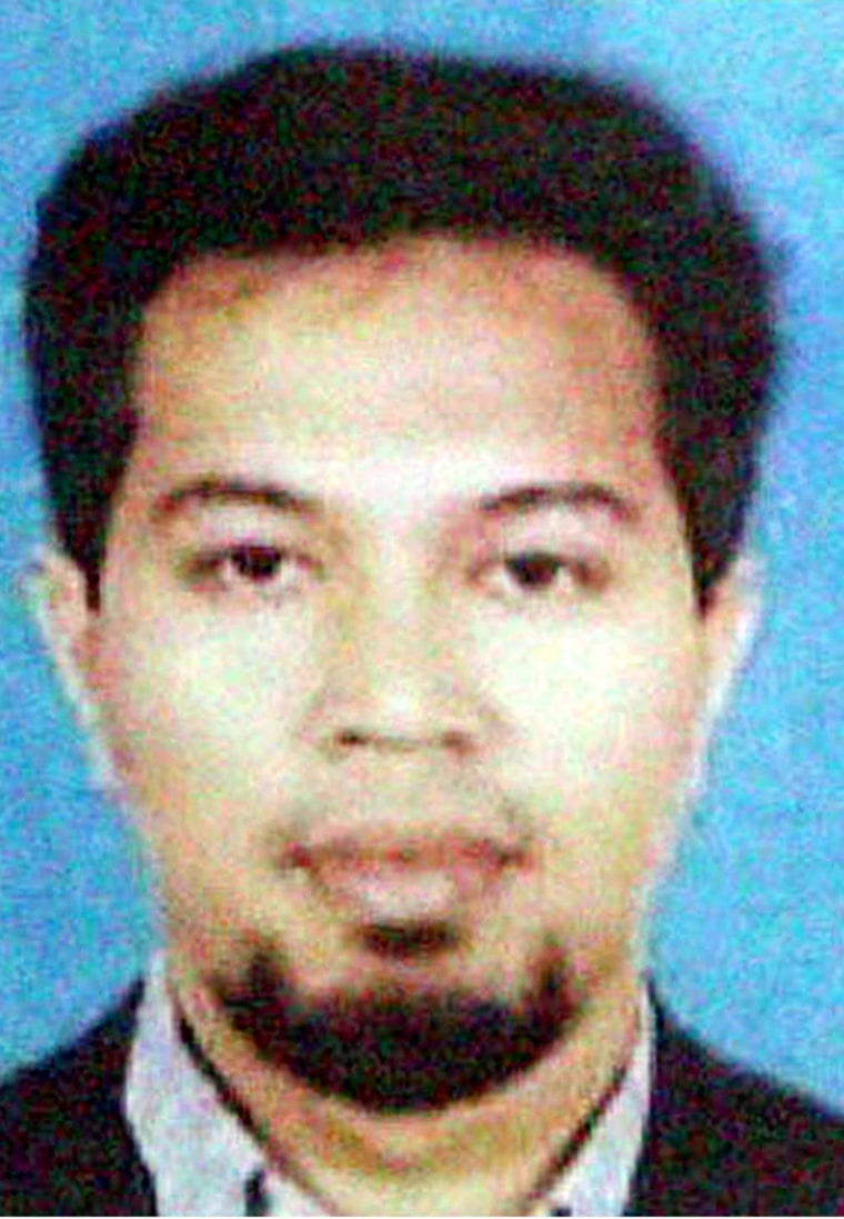 Malaysian terror suspect Noordin Top, in an undated photo originally released by Indonesian police on Nov. 3, 2003.