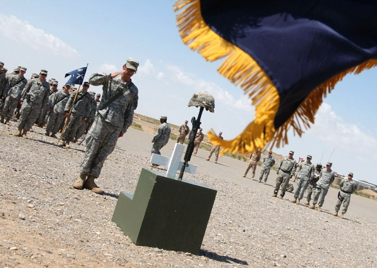 187th Infantry Memorial Service in Iraq