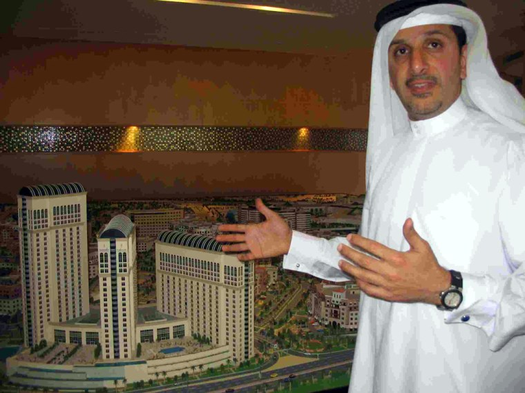 Ahmad Sharaf, a senior executive with the development firm Tatweer, describes a sprawling health care complex being built in the booming city of Dubai.