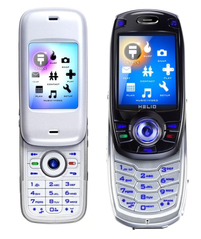 The Kickflip phone, left, and the Hero phone, right, won't come cheap, at $250 and $275, respectively.