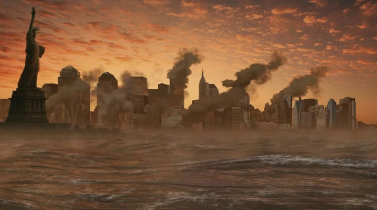 """Post-apocalyptic New York is seen in the introduction to the game """"Left Behind: Eternal Forces."""""""