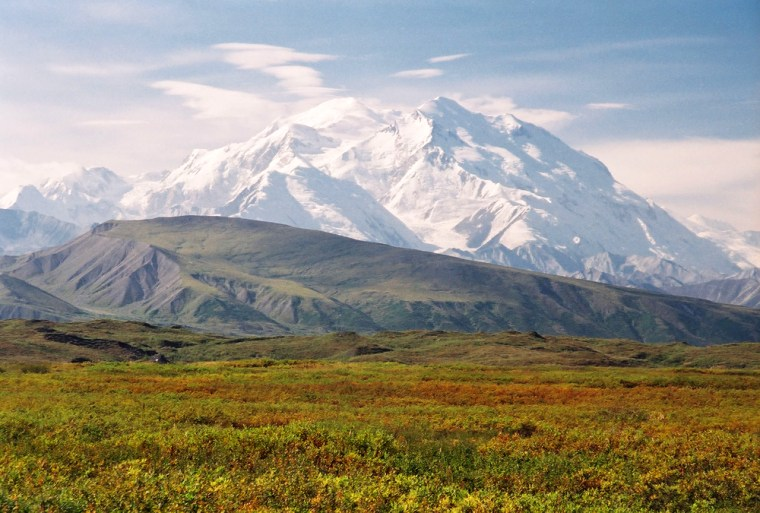 Mt. McKinley rises inside Denali National Park, one of seven parks studied by scientists for pesticide emissions. Tiny amounts were found even at Denali, located in Alaska.