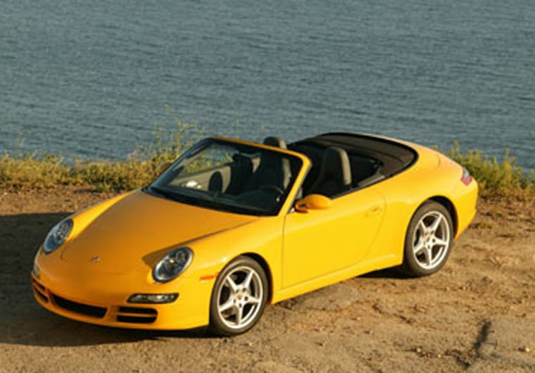 The Porsche 911 Carrera Cabriolet sells for $81,400, and gets 325 hp from its entry-level, six-cylinder engine.