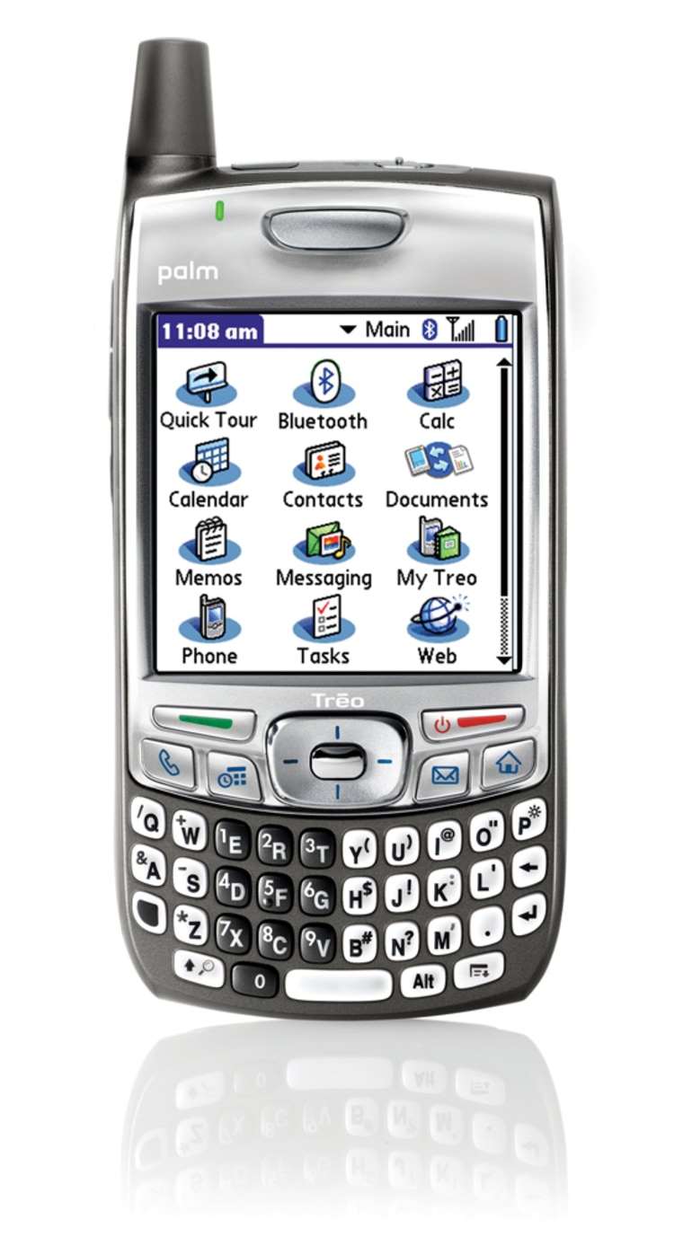 The new Treo 700p's high-speednetworking featureallowsthe handset to double as a wireless modem for your laptop.