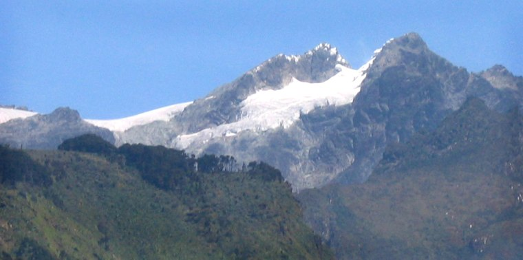Snow tops Mount Stanley in Africa's RwenzoriMountains ... but for how much longer?