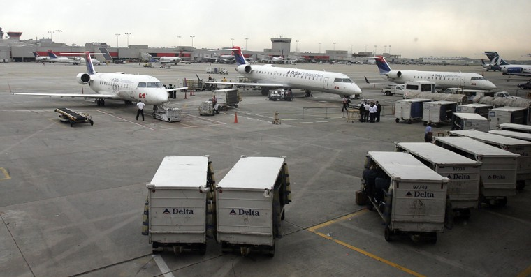"Planes were grounded in April at Atlanta's Hartsfield-Jackson Airport after a ""suspicious device"" was detected in a screening machine."