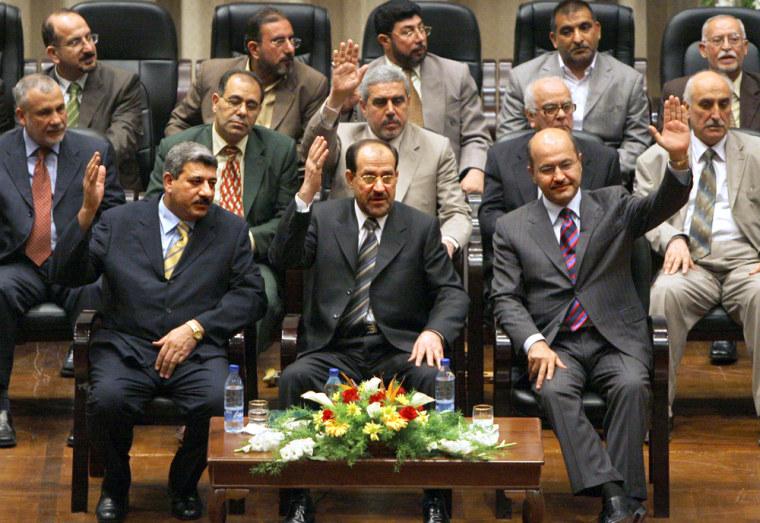 Salam Zikam Ali al-Zubaie, Nouri al-Maliki, Barham Saleh
