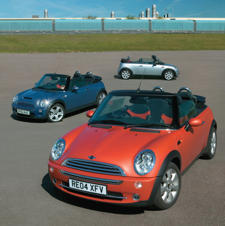 The Mini Cooper is rated ashaving the best resale value among all small cars. Seen here is the 2005 convertible.