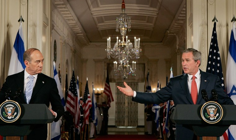 Bush Meets With Israeli Prime Minister At White House