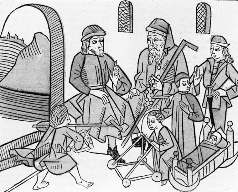 A woodcut from the year 1486 illustrates the stages of life from infancy to old age. How will longer life spans affect that balance between the various stages?