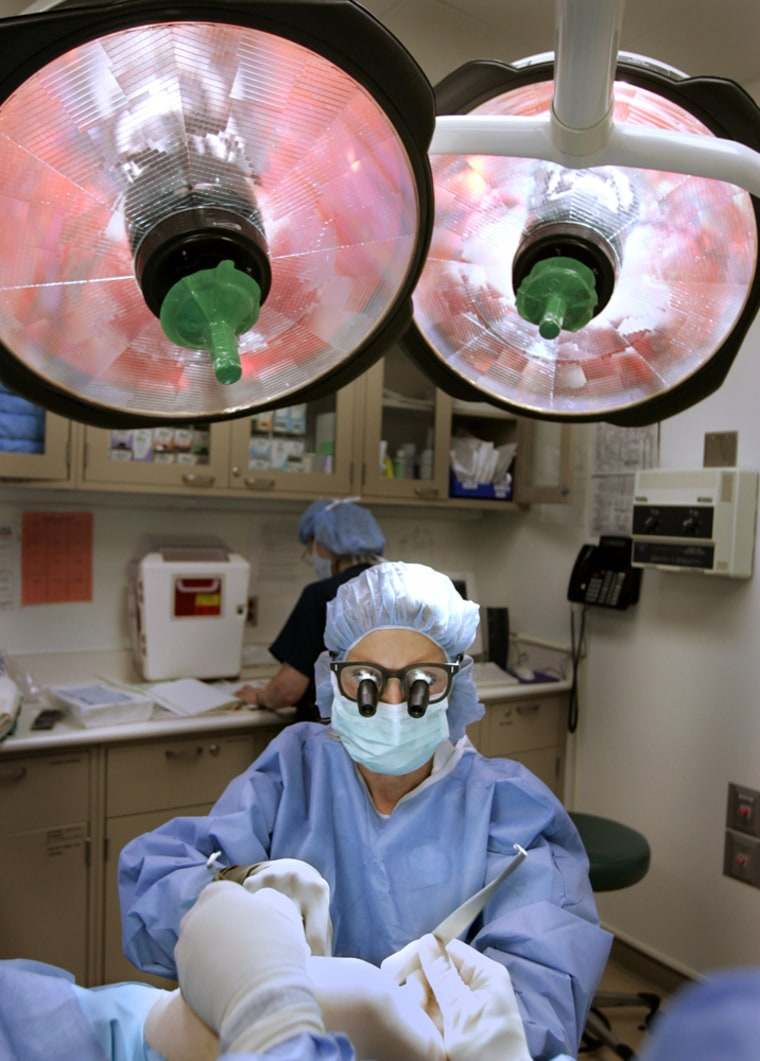 According to government data, the mean annual salary for America's 55,390 surgeons is $181,850.