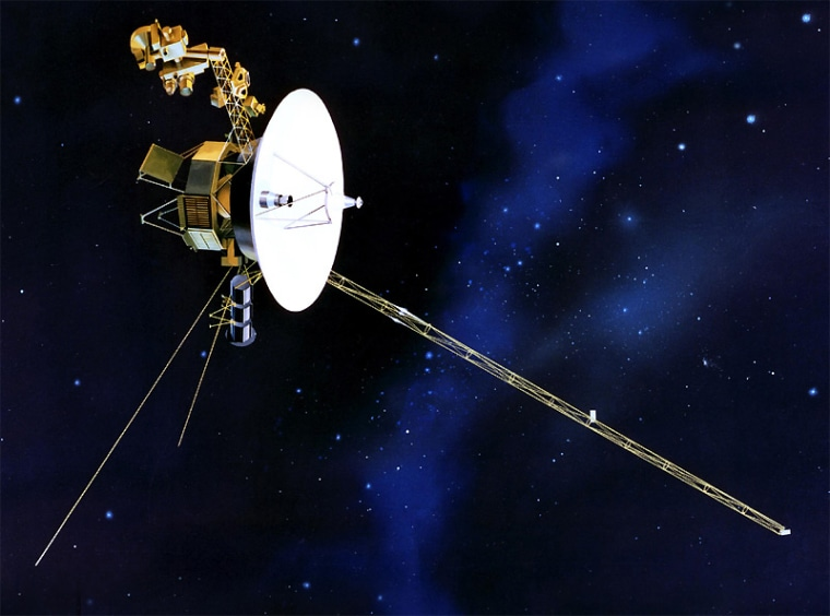 The Voyager 2 probe, shown in this artist's conception, is on course to pass beyond the outermost layer of our solar system earlier than expected, scientists say.