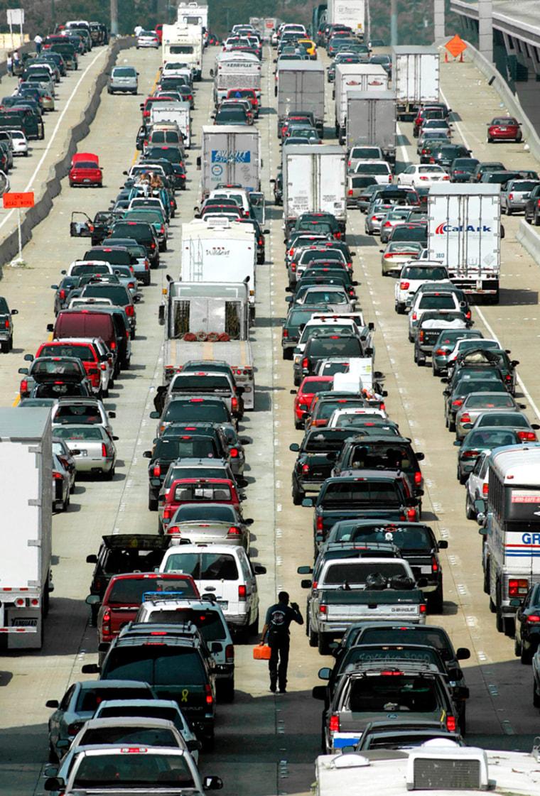 Hurricane Rita traffic