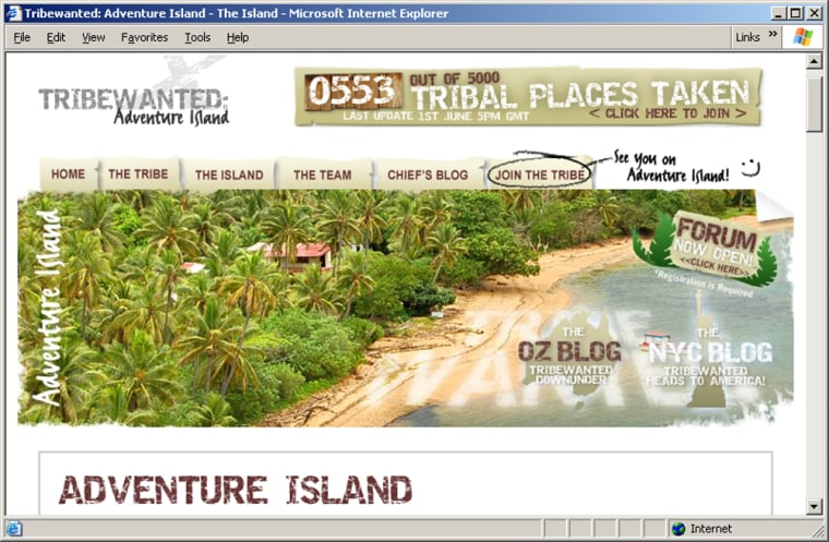 For a fee, you can join an online tribe to developa Pacific island in ecologically friendly way.
