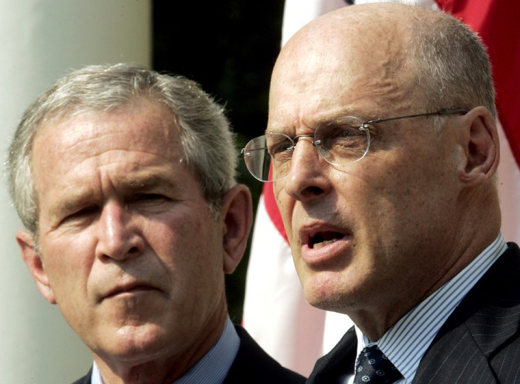 George Bush,  Henry M. Paulson Jr.