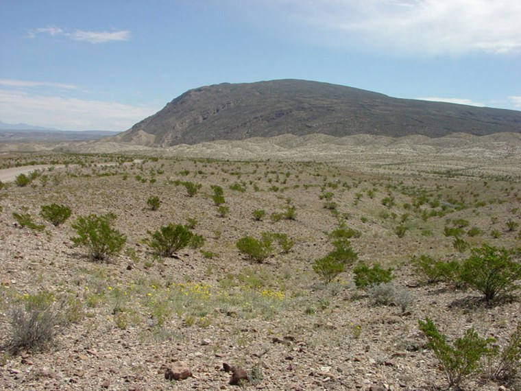 The Sierra de San Vicente in northern Mexico is seen in the distance from inside Big Bend National Park in Texas. The nearby Rio Grande serves as a natural border and Mexico plans to build a nature reserve along 600 miles of the river.